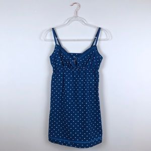 Xhilaration Heart Patterned Blue Nightgown Small S